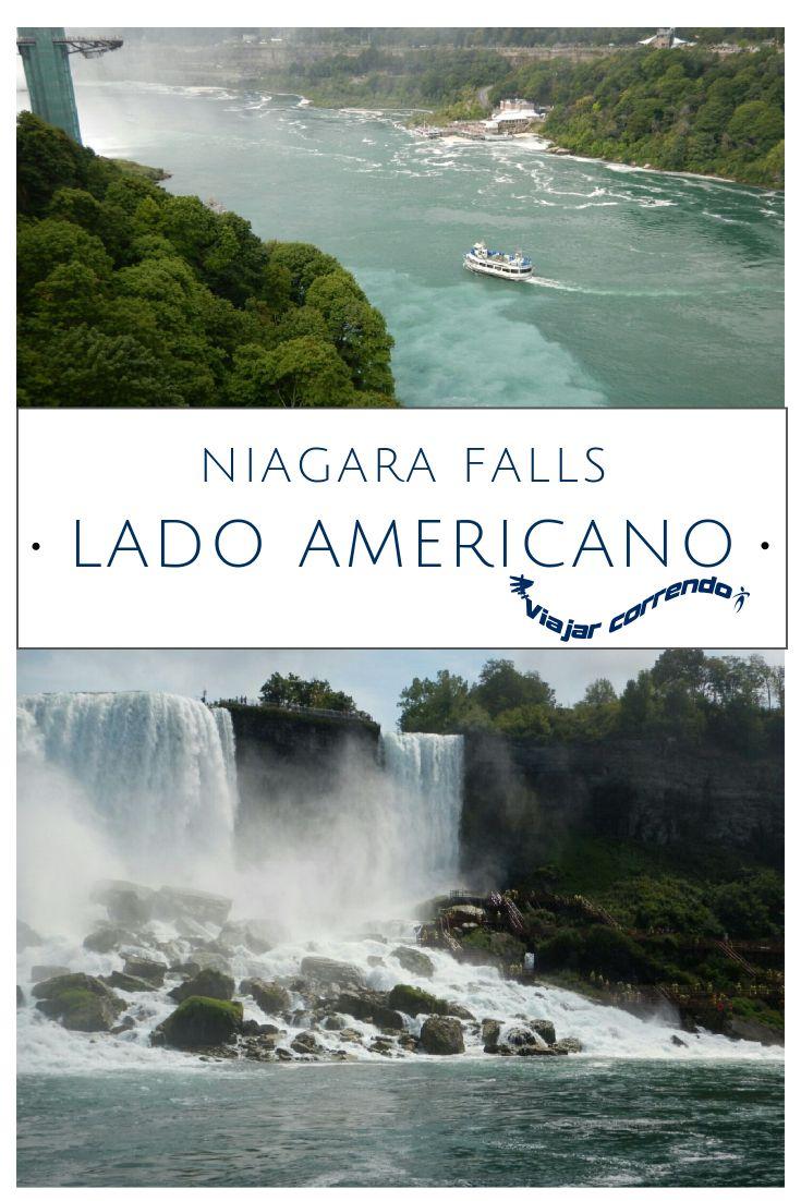 Localizadas na fronteira entre Canada e EUA, as Cataratas do Niágara são uma atração muito visitada na região de Niagara Falls. O lado americano de Niagara Falls fica em um Parque Estadual. É possível conhecer American Falls e Bridge Veil. O passeio de barco do lado americano chama-se Maid of the Myst e vai até a Horseshoe Falls, já no lado canadense das Cataratas do Niágara. Hornblower. Horseshoe Falls..