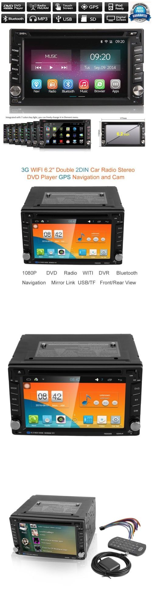 Vehicle Electronics And GPS: Android 5.1 Double 2 Din Car Stereo Gps Dvd Player 6.2 Bluetooth Radio 3G Wifi -> BUY IT NOW ONLY: $125.95 on eBay!