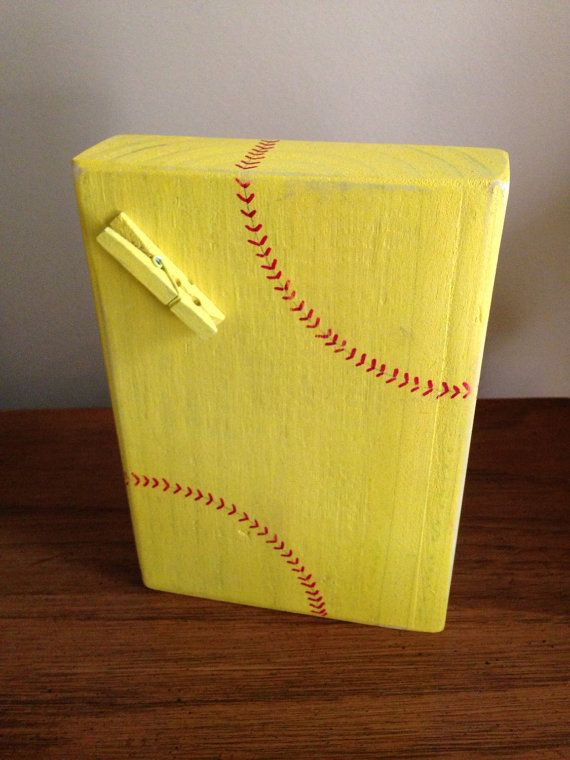 Softball Photo Block by SouthernFlairStore on Etsy