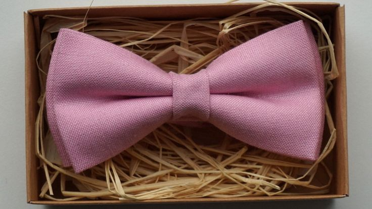 Pink bow tie / Linen bow tie / Cheap bow ties /  Bow ties for sale / Pre tied bow ties / Bow tie sale / Pink bow ties / Pink bow tie for men by ArtOfLithuania on Etsy