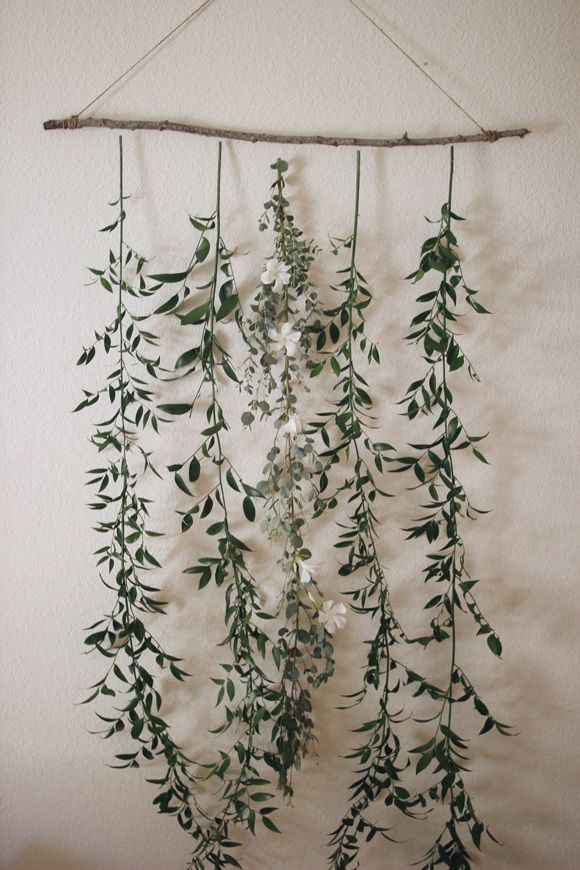 Favorite Wall Décor (hanging greens via Free People)