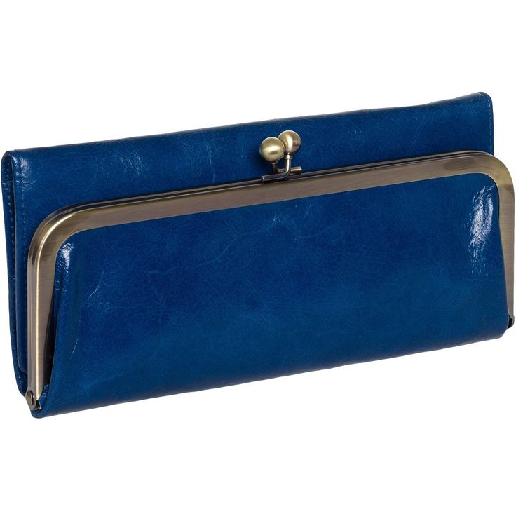 Hobo Womens Genuine Leather Vintage Rachel Clutch Wallet (Cobalto). DURABLE - Durability at it's best! A high quality genuine leather construction can handle your busy life with ease. Whether you're carrying it around as a clutch or dropping it in your bag, you can be assured that your wallet will last!. ORGANIZATION - Opening the magnetic closure reveals 8 credit card slots, 3 bill pockets, 1 clear ID window, a zippered pocket, and cosmetic mirror giving you a multitude of ways to store…