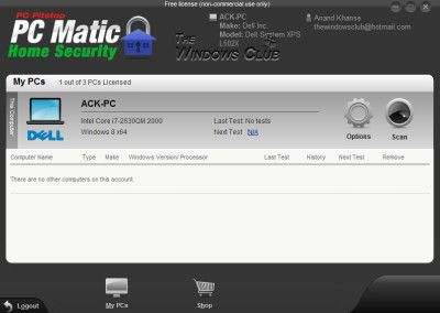PC Pistop the developers of PC Matic, a Windows optimization software have released PC PitStop PC Matic Home Security Free Version. This free version of PC Matic Home Security includes all security features of PC Matic. Since PC Pitstop was now offering a free version, I decided to take it for a spin.