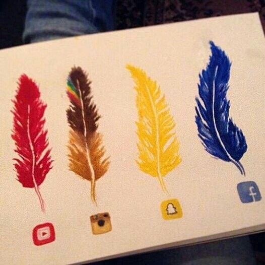 Social Media Feathers