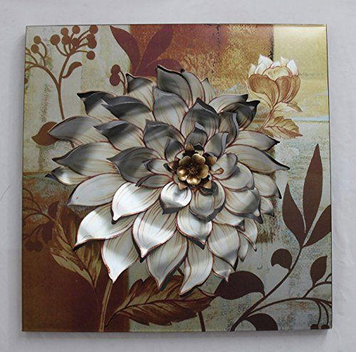 the dahlia flower metal wall art home decor. Black Bedroom Furniture Sets. Home Design Ideas