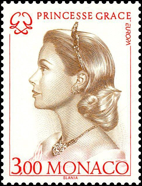 Monaco Stamp - Grace Kelly , US actress who married Prince Rainer and became…