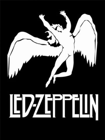 Based on a 1869 sketch of Greek god Apollo by William Rimmer called 'Evening Or The Fall Of The Day', the image was actually designed to represent Led Zeppelin's own record label Swan Song which was set up in 1974.