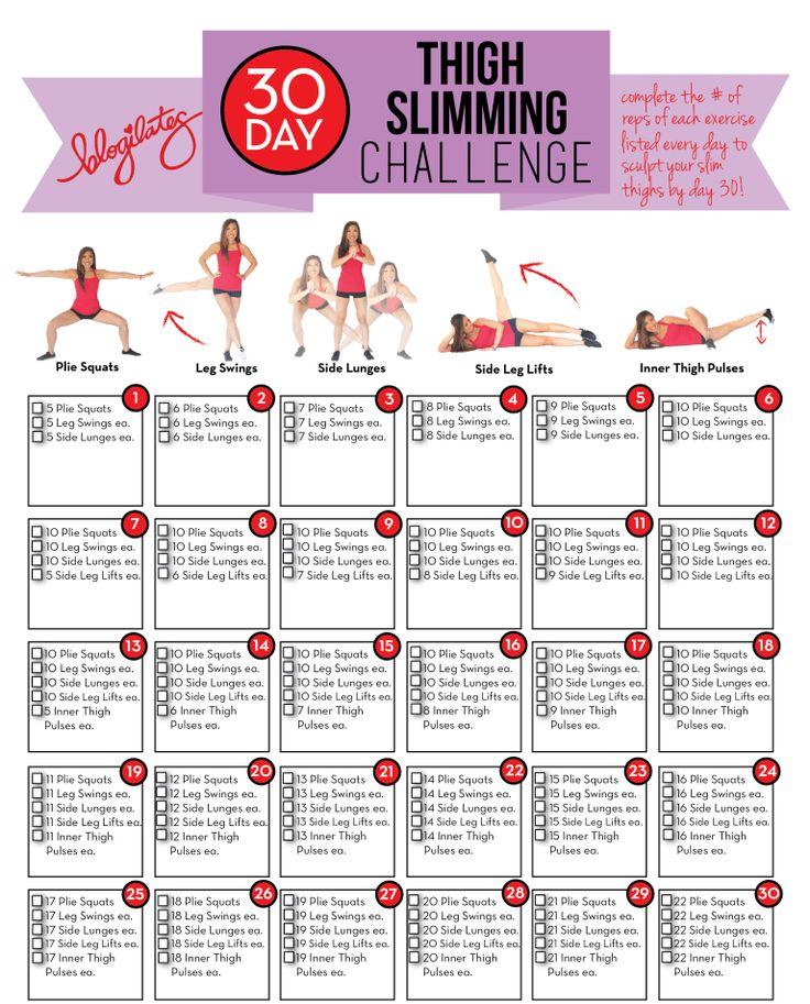 30 Tage Oberschenkel Abnehmen Herausforderung | Weiblicher Fit Körper