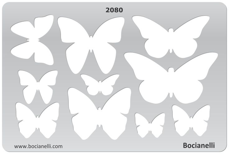 2080 Art and Craft Design Template Stencil for Jewellery Making Drawing and Drafting - Butterfly Butterflies shape