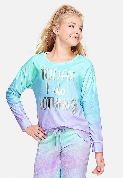 84182f352cac Today I Do Nothing Pajama Top