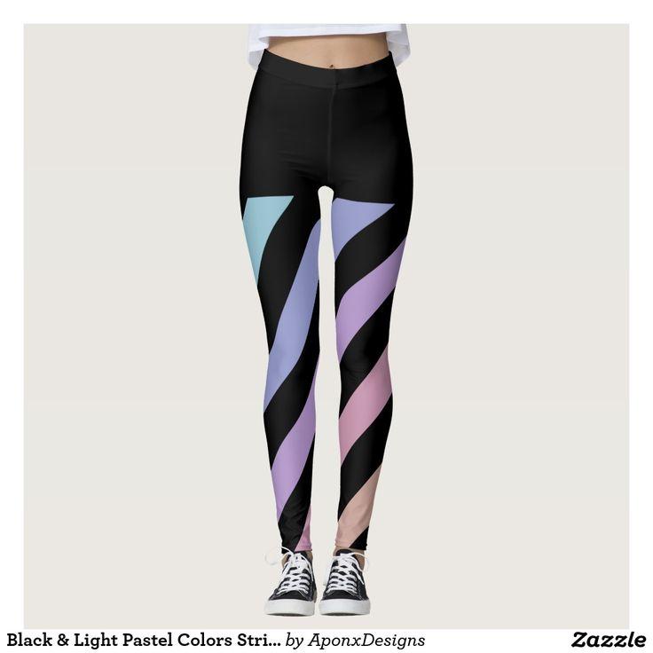 Black & Light Pastel Colors Stripes Pattern