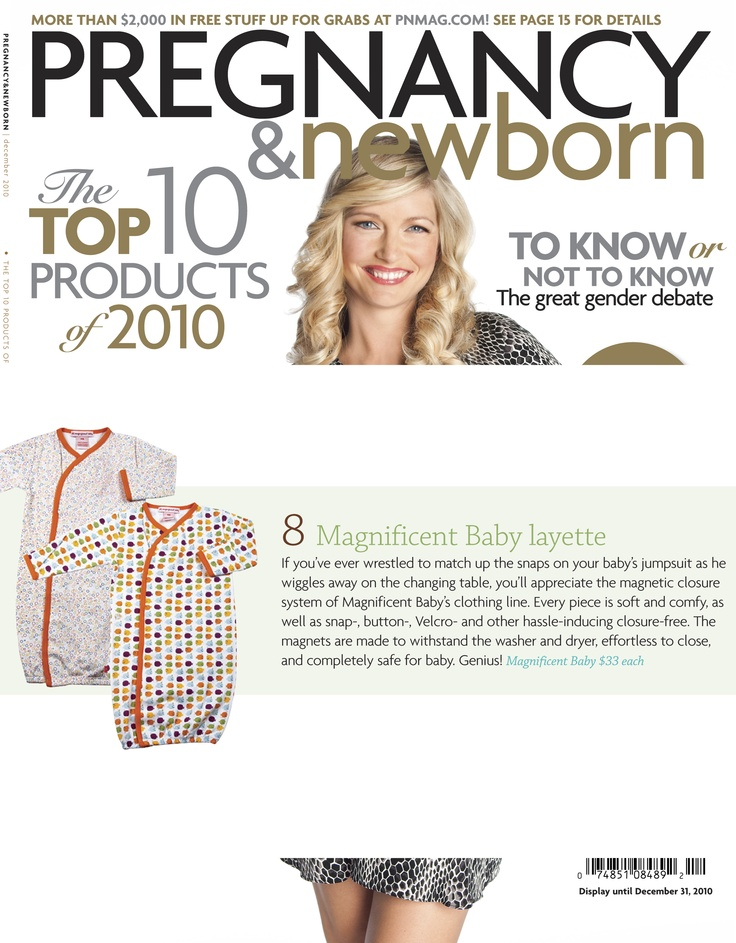 Magnificent Baby features in Pregnancy & Newborn - December 2011!