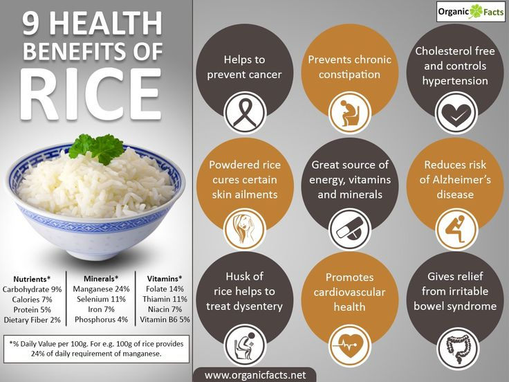 Health benefits of rice include providing fast and instant energy, good bowel movement, stabilizing blood sugar levels and providing essential source of vitamin B1 to human body. Other benefits include skin care, resistance to high blood pressure, dysentery and heart diseases. Rice is the staple food in most of the countries and it is an important cereal crop that feeds more than half of the world's population.  The various benefits of rice can be found in more than forty thousand varieties…