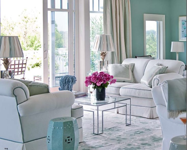 Blue Pink And White Rooms