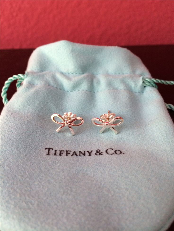 Tiffany and Co bow earrings, I want these so bad. Gonna buy them for myself maybe for my birthday haha.