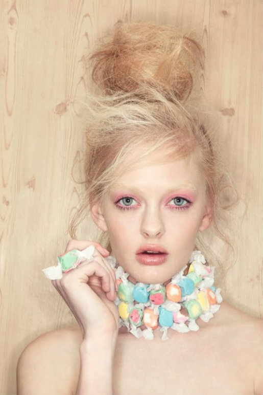 High-fashion candy necklace. Such a GREAT shot !!!