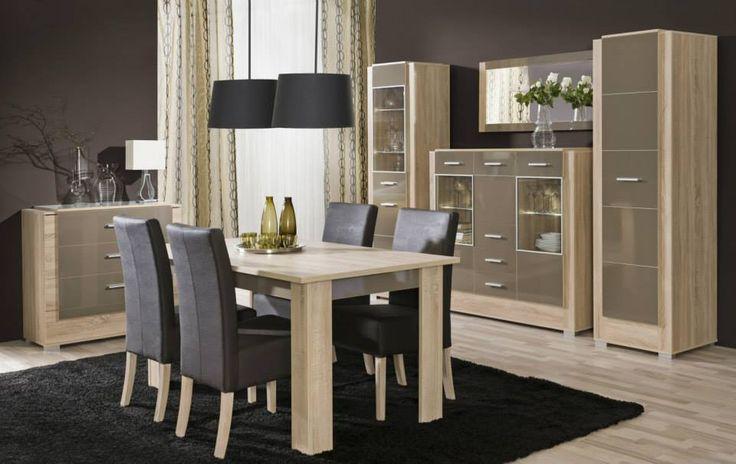 Černé židle se staly elegantním nábytkem díky odlehčujícím světlým tónům zbytku sestavy. Doprava zdarma zase odlehčí účtu za novou jídelnu http://goo.gl/LzH4KR