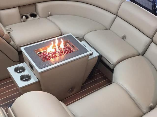Firepits for pontoon boat
