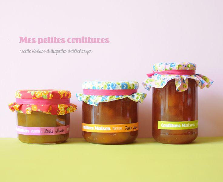 Etiquettes pots de confiture