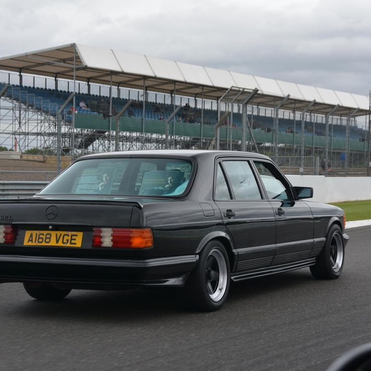 "The Mercedes-Benz Club (@themercedesbenzclub) on Instagram: ""George Harrison 500 SEL AMG on Silverstone GP circuit.#richardjmason #rockstarscars #amg…"""