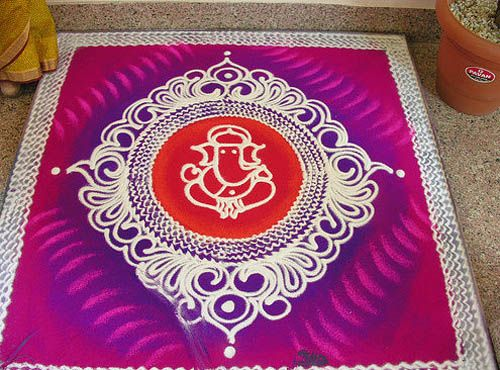 9 Best Free Hand Rangoli Designs | Styles At Life