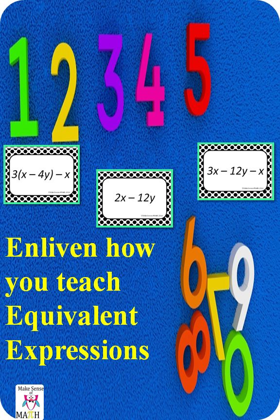 Practice combining like terms with these equivalent expressions task cards. These middle school math task cards include integers and variables to help students simplify expressions. The distributive property is used at least once in each set. The expressions use integers and use numbers that could be modeled (if needed.) Students will be able to simplify, expand and match equivalent expressions.