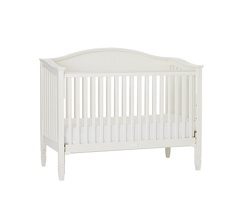 Madison Fixed Gate Crib With Water Base Finish Simply White Products Kid And Barns