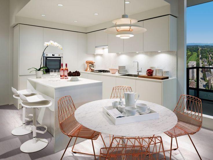Kitchen in white colour scheme.