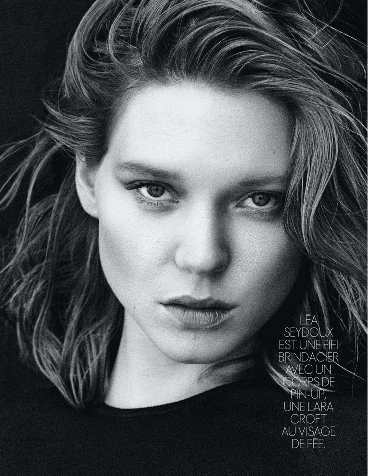 LEA SEYDOUX in Elle Magazine, France February 2014 Issue ...
