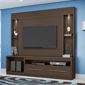Estante para TV e Home Theater New Montreal Belaflex Cacau