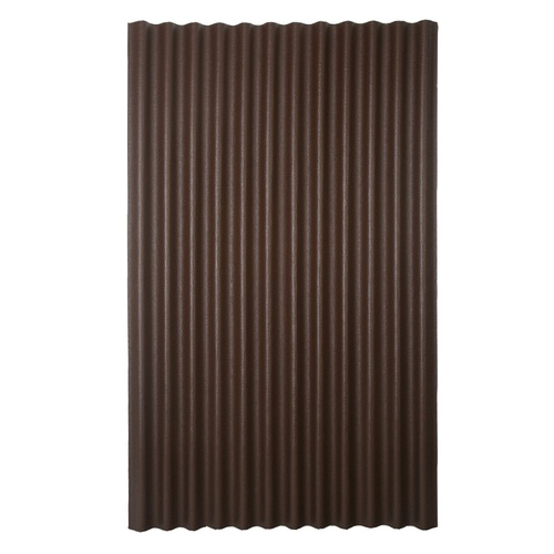 Best Zoomed Ondura 79 Brown Corrugated Roof Panel 400 x 300