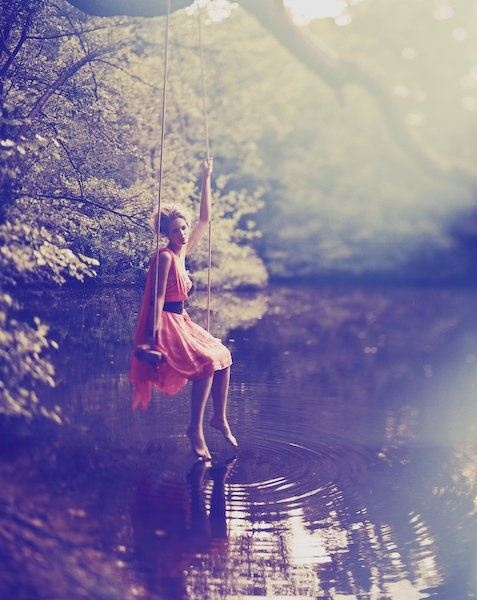 photography idea.. I like how her toes are just making the water ripple, it's a nice detail. :)