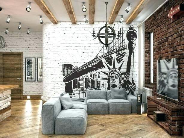 Industrial Wall Decor Interior Brick Wall Covering Ideas