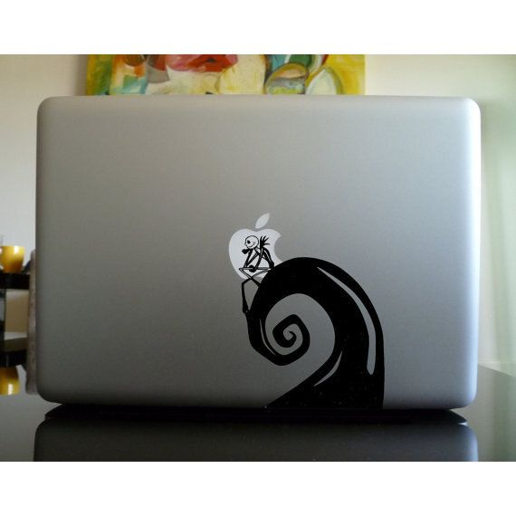 Nightmare Mac Sticker Macbook Decal Nightmare Before