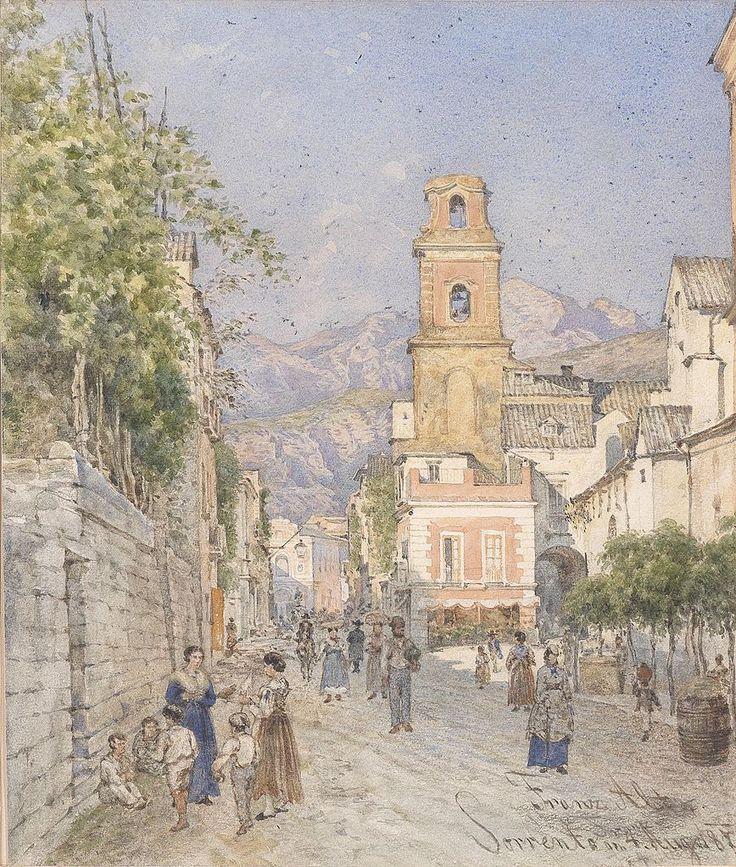 Franz von Alt - 1887 Street in Sorrento, Italy