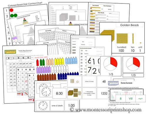 Printable Montessori Math Extension Lessons Bundle by Montessori Print Shop