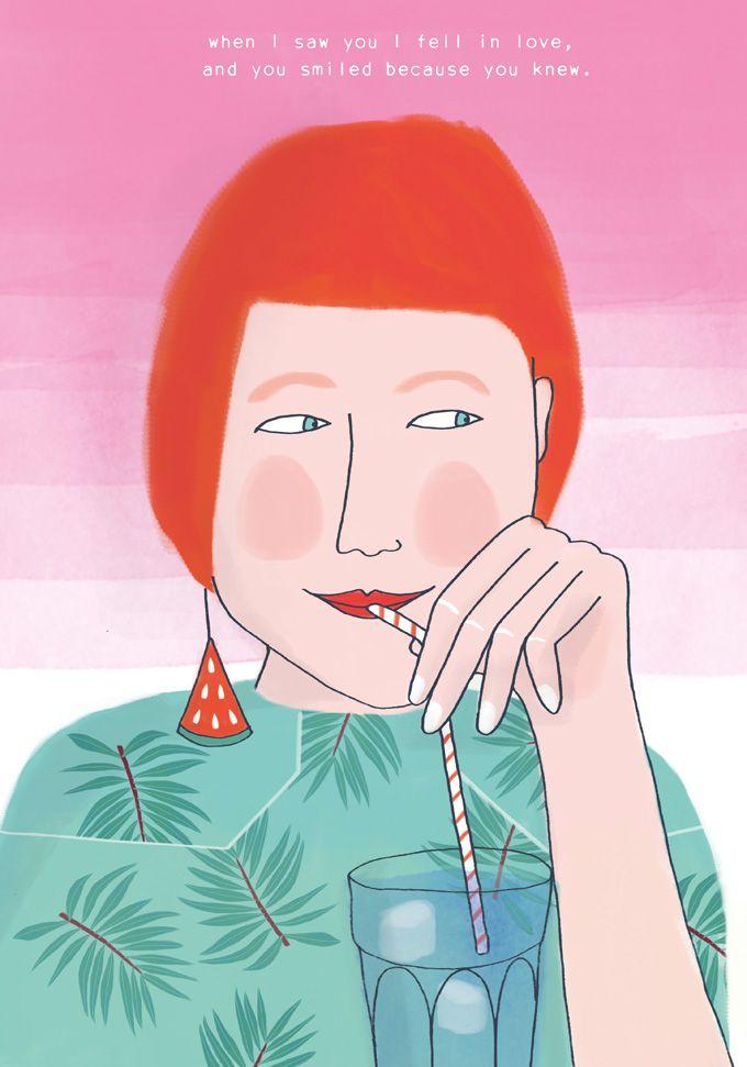 Valentines illustration made by Karen Weening  #valentine #happyvalentinesweek #illustration #valentinecard #karenweening