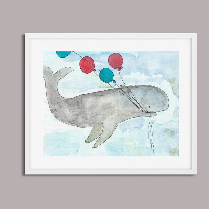 Sperm Whale Digital Print,  Download, Printable Art, Printable Whale Poster, Nursery Decor, Birthday Whale, Made in Australia by PaperJamink on Etsy