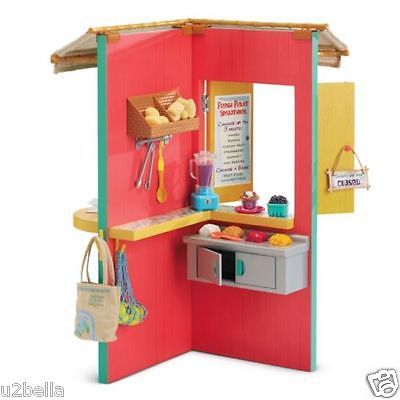 American-Girl-Doll-Lea-039-s-Fruit-Stand-COMPLETE-SET-PLUS-30-Accessories-NEW