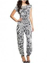 Printed Crew Neck Delightful Sleeveless Jumpsuits