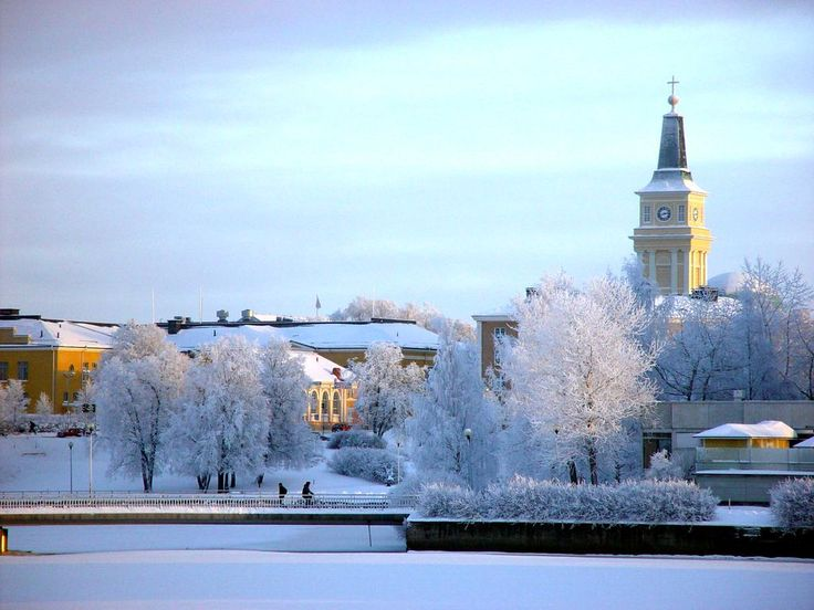 Winter scene in Oulu
