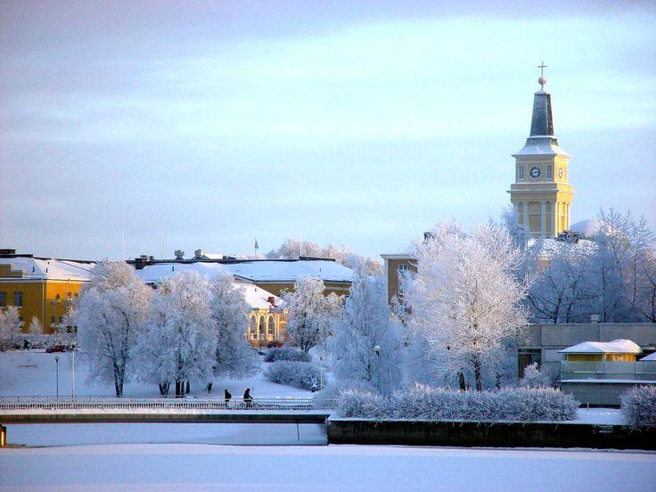 Winter scene in Oulu
