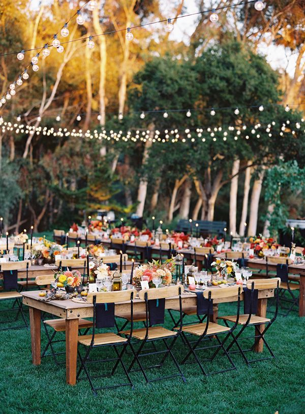 a lovely outdoor reception