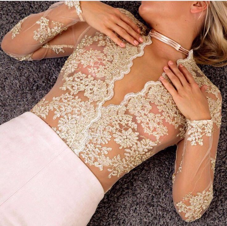 Hello Lace Gold Bodysuit