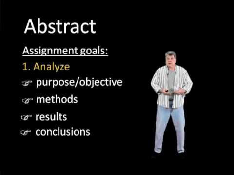How to Write an Abstract: Research Paper-Communications 600 - YouTube