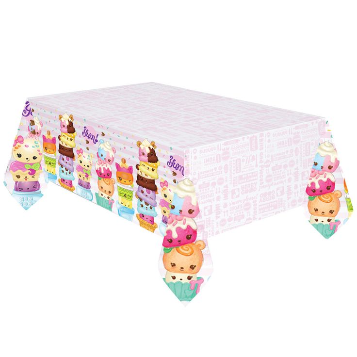 Num Noms Tablecover Party Tableware Num Nom Party Supplies Ice Cream tablecloth