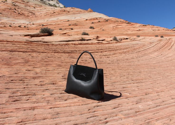 bydansti - While driving through Zion National Park we had to stop at the side of the road and take some pictures of the beautiful bow bag! I mean, just look at the incredibly cool hillside, it looked unreal.