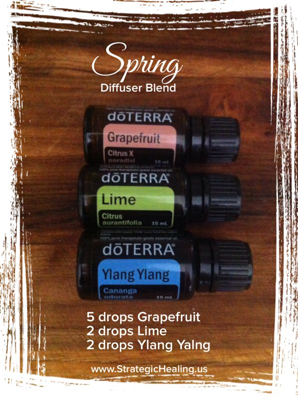 Bring Spring in with this doTERRA essential oil blend of Ylang Ylang, Lime, and Grapefruit!