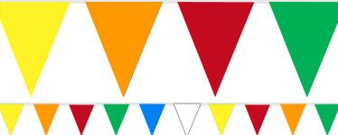 Flaggentuch in Regenbogenfarben / Rainbow bunting from Party City  http://www.partycity.de/themen/flaggengirlande.aspx