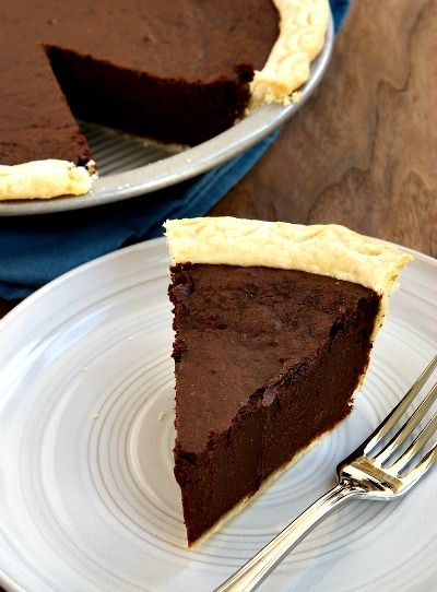 Homemade Hot Fudge Pie Recipe -- this was super good. Very rich. I used IKEA dark chocolate (best value for baking!), and it would be awesome with vanilla ice cream. Tastes exactly like hot fudge.